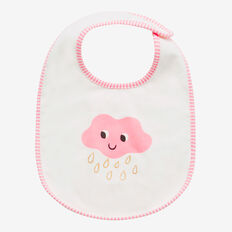 Cloud Stripe Bib  MUSK PINK  hi-res