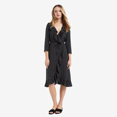 Spotty Long Wrap Dress  SPOT  hi-res
