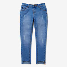 Slim Distressed Jean  BRIGHT SKY WASH  hi-res