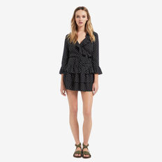 Wrap Frill Spot Top  SPOT  hi-res