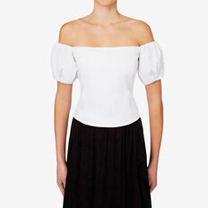 Off Shoulder Bodice  BRIGHT WHITE  hi-res