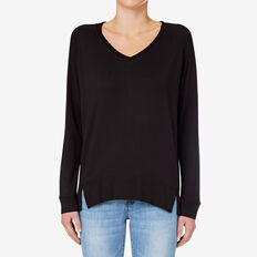V Neck Sweat  BLACK  hi-res
