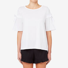 Tie Sleeve Tee  BRIGHT WHITE  hi-res