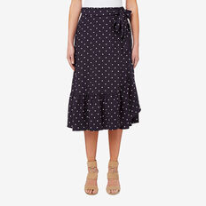 Frill Detail Skirt  SPOT  hi-res