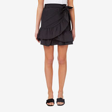 Wrap Frill Skirt  BLACK  hi-res