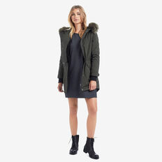 Fur Trim Anorak  FOREST GREEN  hi-res