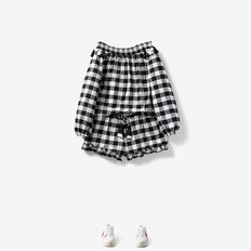 Gingham Top  BLACK/CANVAS  hi-res