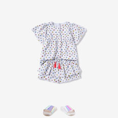 Floral Broderie Top  WHITE  hi-res