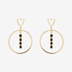 Triangle Bead Earrings  GOLD  hi-res