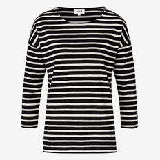 Easy Stripe Tee  BLACK/WHITE STRIPE  hi-res