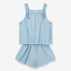 Chambray Playsuit  SUNBLEACHED CHAMBRAY  hi-res