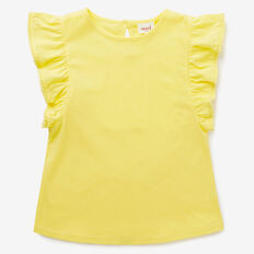 Pom Pom Frill Tank  LEMON YELLOW  hi-res
