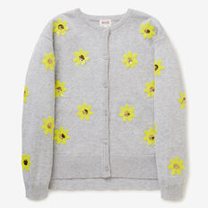 Sequin Daisy Cardigan  CLOUD  hi-res
