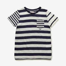 Contrast Stripe Tee  MIDNIGHT BLUE  hi-res