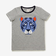 Layered Tiger Tee  MIDNIGHT BLUE  hi-res