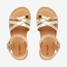 Metallic Strap Sandal  METALLIC  hi-res