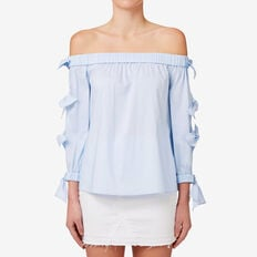 Bow Sleeve Top  GLACIER BLUE  hi-res