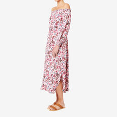 Off Shoulder Floral Maxi  FLORAL  hi-res