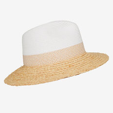 Contrast Weave Hat  WHITE/NATURAL  hi-res