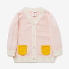 Raglan Pocket Cardi  SOFTEST PINK  hi-res