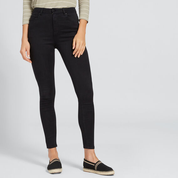 High Waist Skinny Jean  BLACK  hi-res