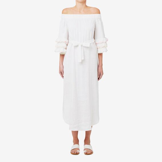 Coloured Trim Detail Dress  BRIGHT WHITE  hi-res