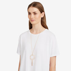 Ring Bead Necklace  GOLD  hi-res