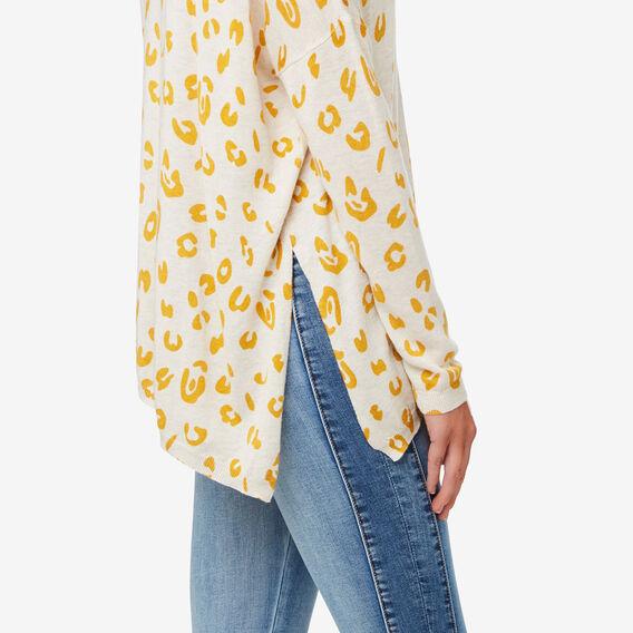 V Neck Asymmetrical Sweater  OCELOT  hi-res
