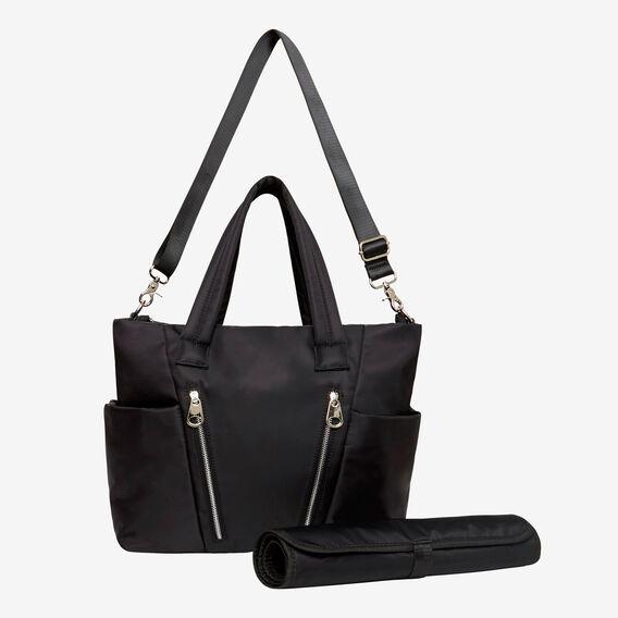 Zip Detail Baby Bag  BLACK  hi-res