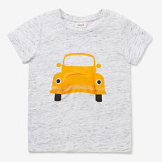 Car Zip Tee  VINTAGE WHITE MARLE  hi-res