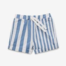 Stripe Denim Roll Short  MID BLUE  hi-res