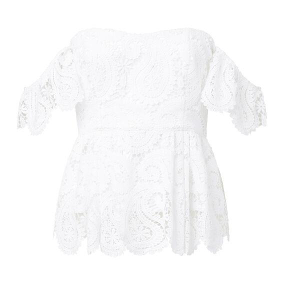 Paisley Lace Bodice  WHITE  hi-res