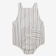 Stripe Overall Onesie  CHARCOAL  hi-res