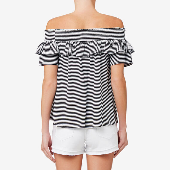 Mixed Stripe Top  BLACK/WHITE STRIPE  hi-res