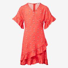 Wrap Dress  BLOOD ORANGE  hi-res