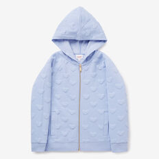 Quilted Hoodie  BLUEBELL  hi-res