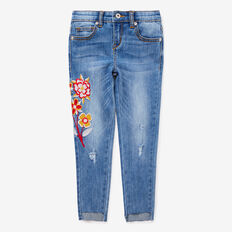 Floral Embroidered Jeans  LIGHT WASH  hi-res