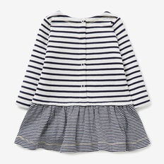 Stripe Double Knit Dress  NAVY  hi-res