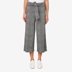 Wide-Leg Jersey Pant  DARK CHECK  hi-res