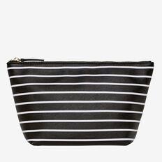 Oversized Cosmetic Bag  BLACK STRIPE  hi-res