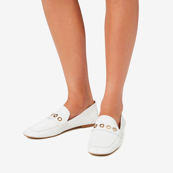 Allegra Eyelet Loafer  WHITE  hi-res