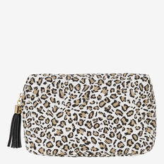 Large Cosmetic Bag  QUILTED OCELOT  hi-res