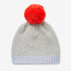 Honeycomb Beanie  SMOKE GREY MARLE  hi-res