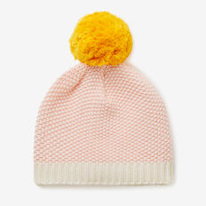 Honeycomb Beanie  SOFTEST PINK  hi-res