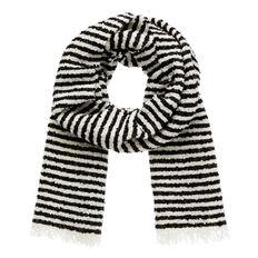 Boucle Stripe Scarf  BLACK/WHITE  hi-res