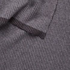 Ribbed Knit Scarf  GREY  hi-res