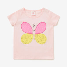 Butterfly Applique Tee  ICE PINK  hi-res