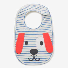 Novelty Puppy Bib  NIAGARA BLUE  hi-res