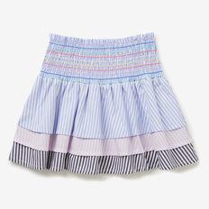 Rainbow Shirred Skirt  MULTI  hi-res