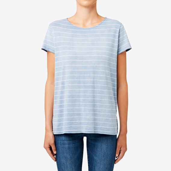 Acid Wash Stripe Tee  INDIGO WASH STRIPE  hi-res